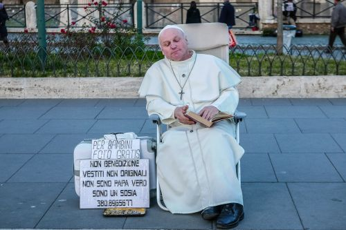 pope francis pope street artist