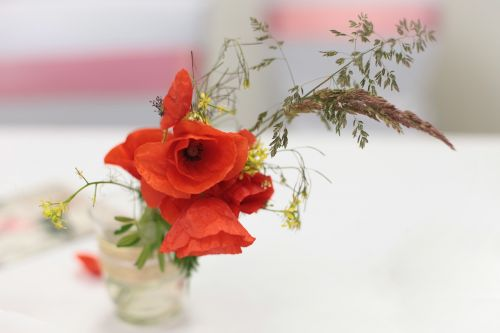 poppy flower wedding