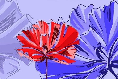 poppy purple red