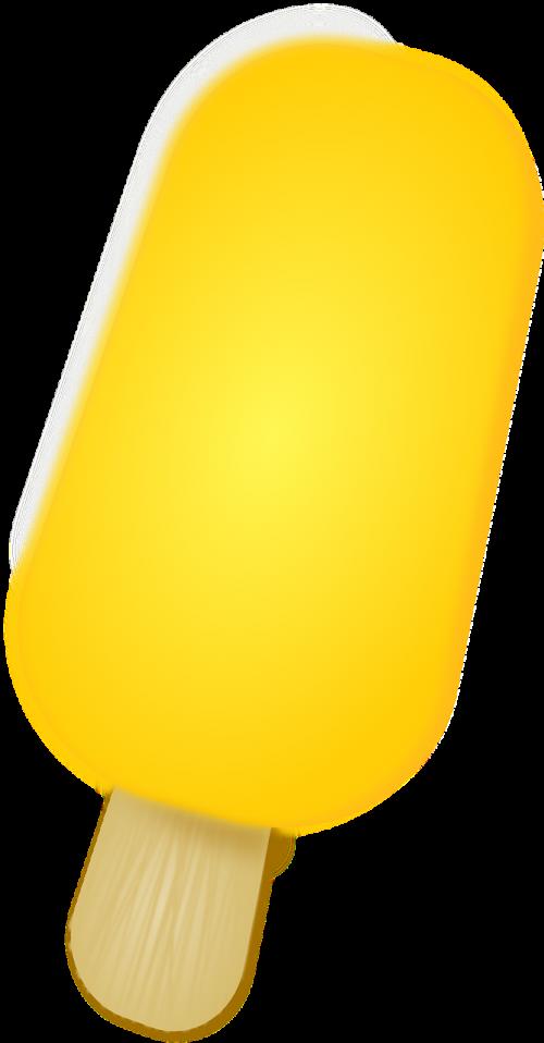 popsicle food yellow
