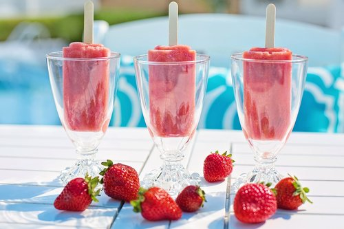 popsicles  strawberry popsicles  red