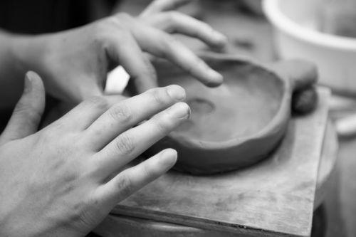 porcelain hand dirt