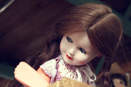 porcelain doll blue eyes look