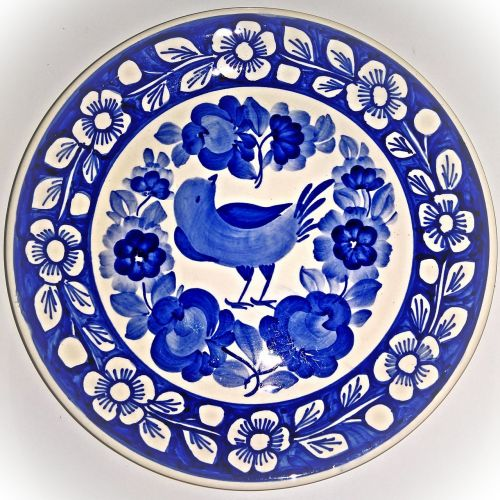 porcelain plate wall plate delft style