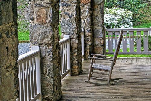 porch rocking chair wood