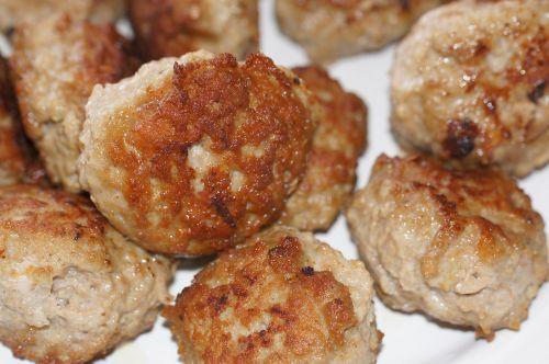pork meatballs fried