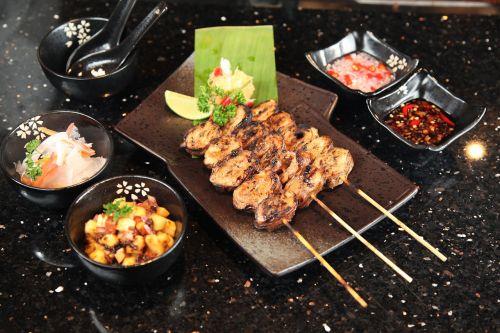pork intestine barbecue grill