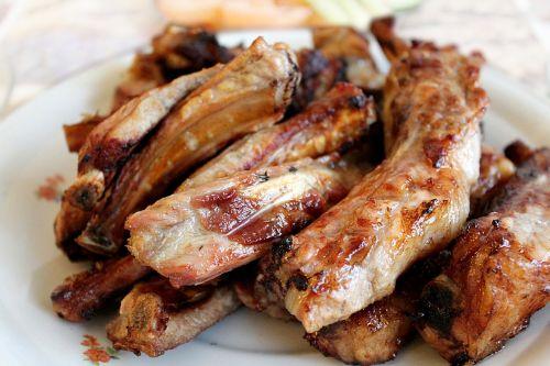 pork ribs bbq ribs the ribs on the fire
