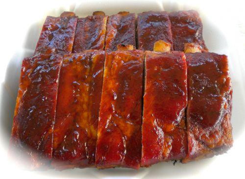 pork ribs barbecue food