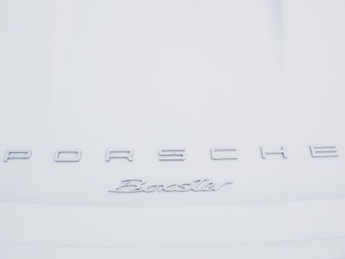 porsche lettering boxster