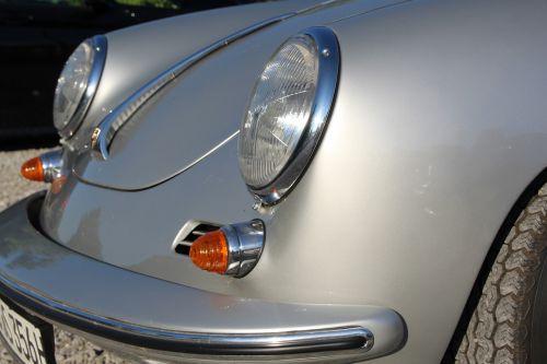 porsche silver front headlight
