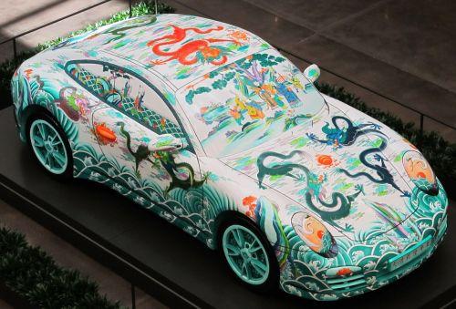 porsche sports car painted