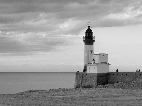 port lighthouse sea