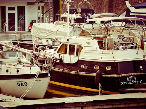 port boats boats in the harbor