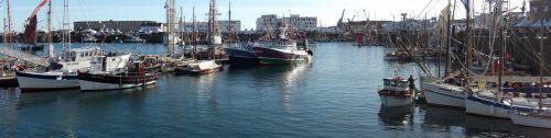 port fishing fishing boats
