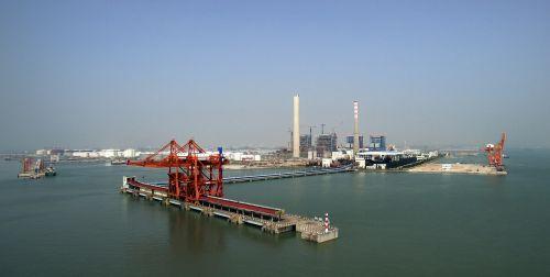 port cargo ships the sea