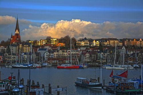 port city clouds