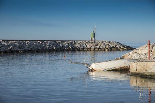 port boat fishing boat