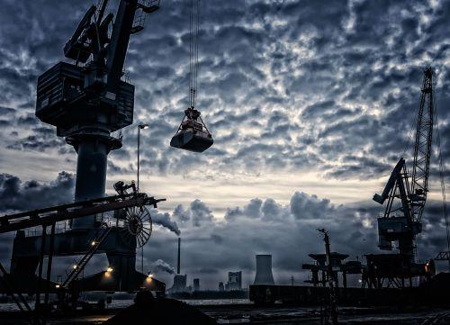 port crane harbour crane