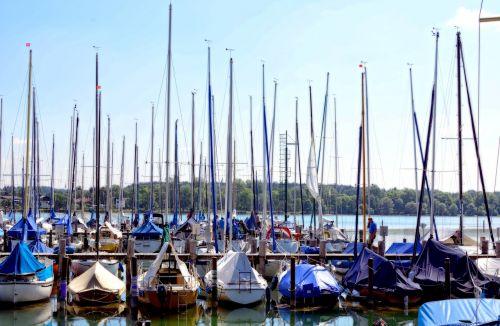 port sailing ships masts