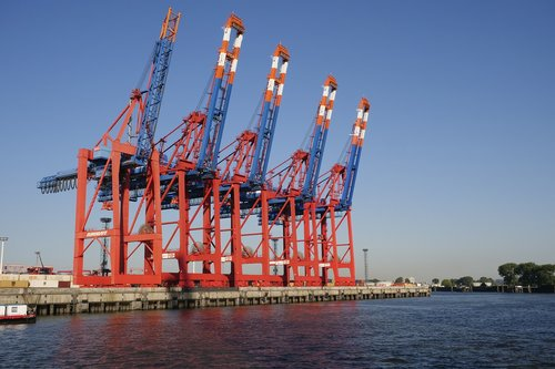 port industry  container  container crane systems