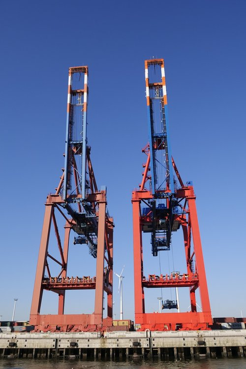 port industry  container  container cranes