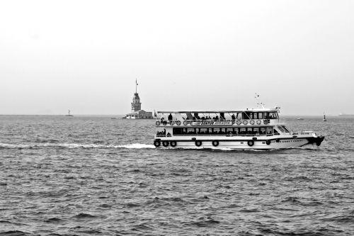 port motifs monochrome black and white