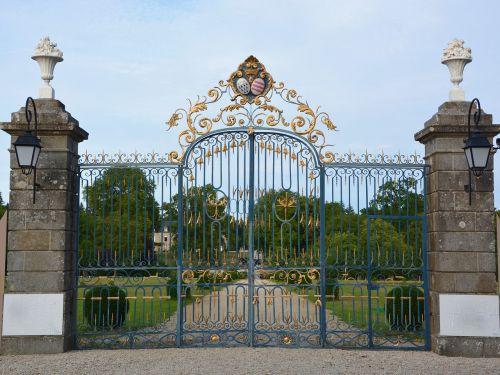 portal wrought iron blue