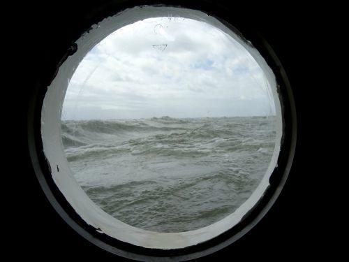 porthole sailing vessel sea