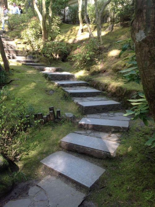 portland japanese garden stairs stone