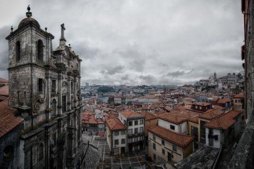 porto,bažnyčia,Senamiestis,turizmas,fasadas,istoriškai,portugal,istorinis senamiestis