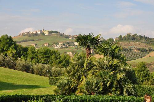 porto san giorgio italy view of the hills