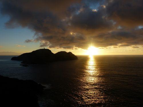 portosanto sunset abendstimmung