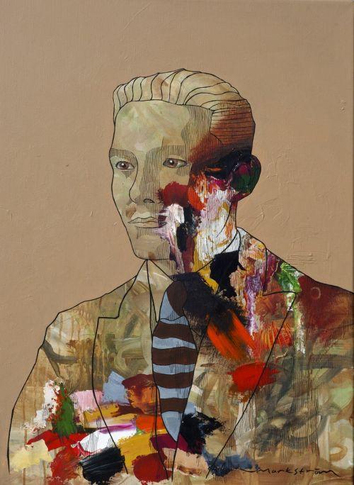 portrait painting man