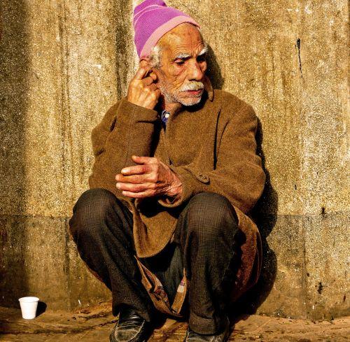 portrait face poverty
