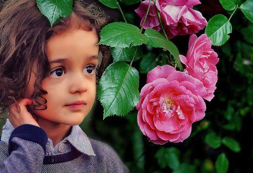 portrait the little girl child