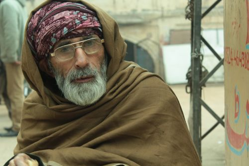 refugee portrait man