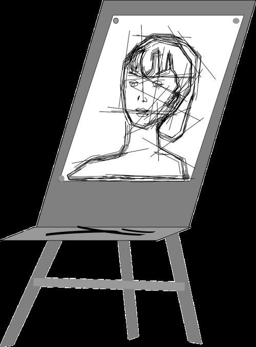 portrait sketch easel