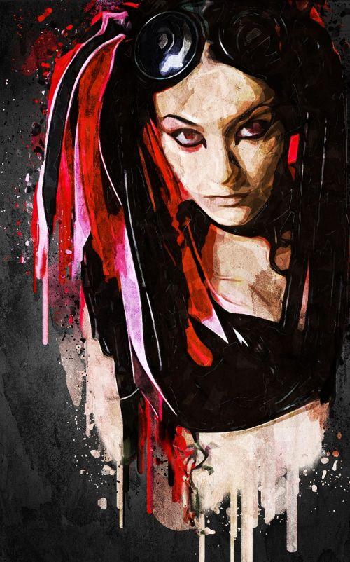 portrait woman face