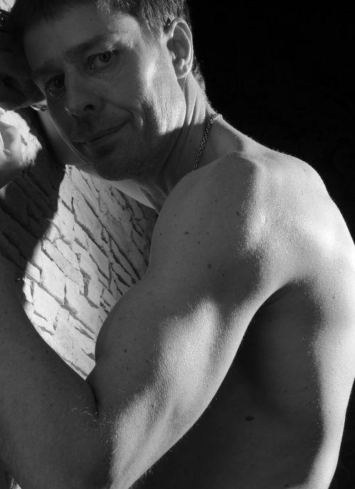 portrait man muscles