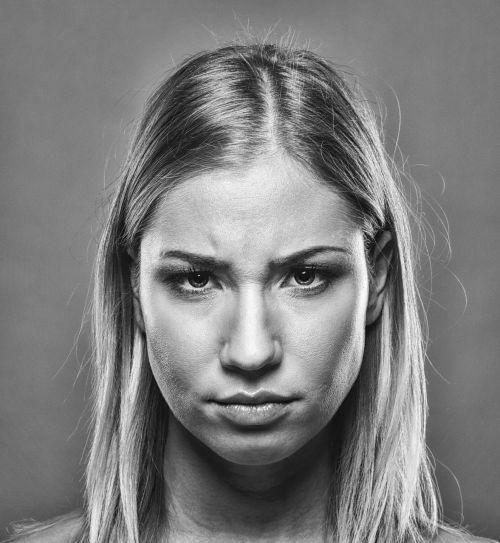 portrait girl blonde