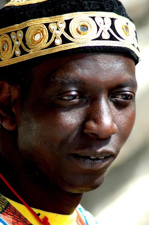 portrait face african