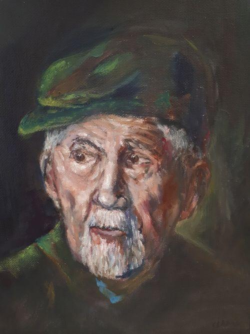 portrait canvas oil