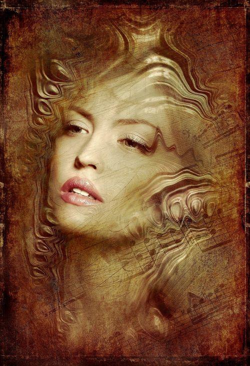 portrait woman antique