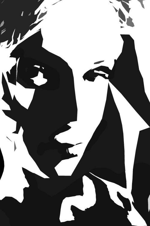 portrait woman monochrome