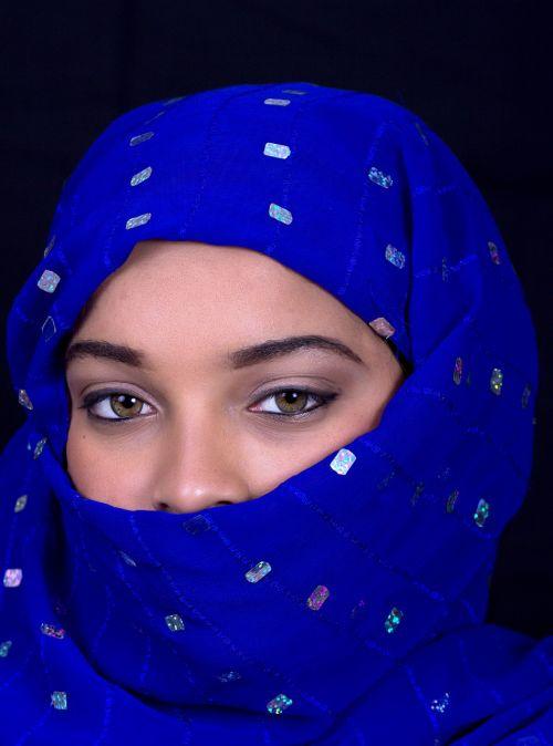portrait people veil
