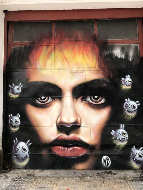 portrait human graffiti