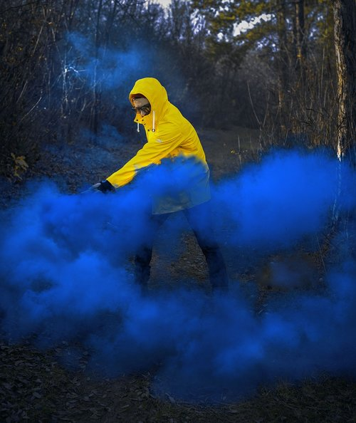 portrait  smoke  bomb