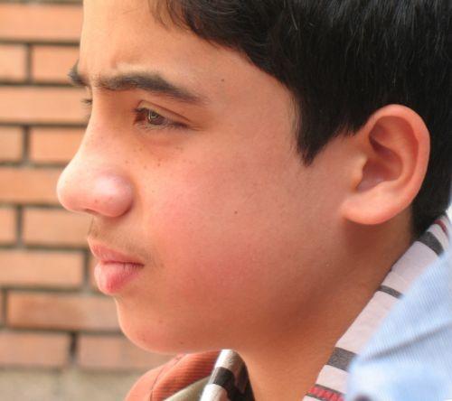 portrait boy looking