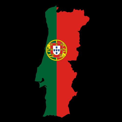 portugal map flag
